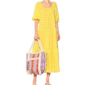NWT SOLID & STRIPED Peasant Midi Dress In Sunshine